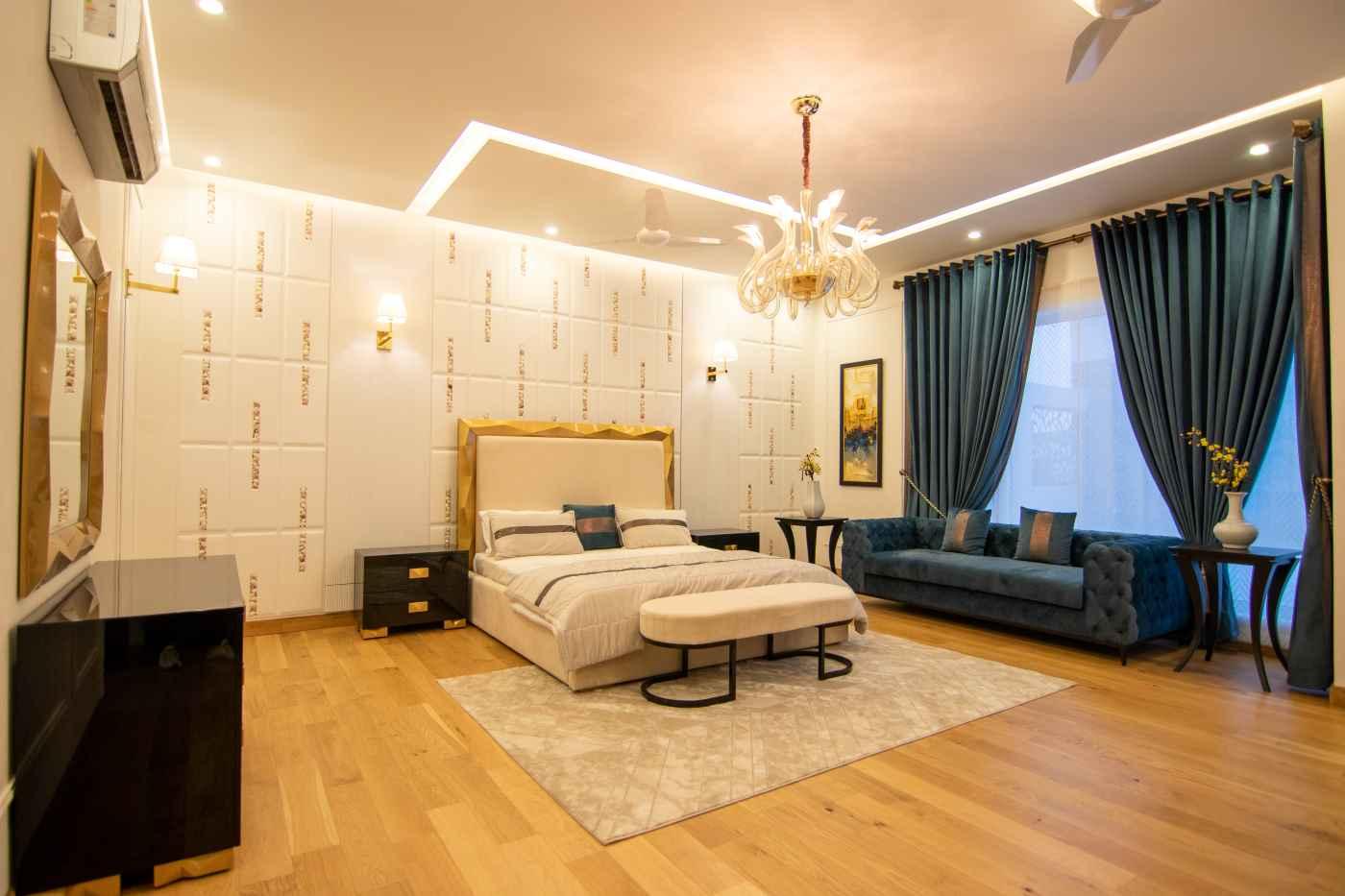 luksusowa sypialnia hotelowa