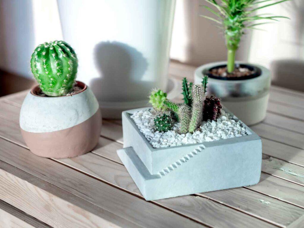 Najlepiej sztuczne rośliny umieszczać w ciężkich doniczkach